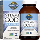 Garden of Life Multivitamin for Men - Vitamin Code 50 & Wiser Men's Raw Whole Food Vitamin Supplement with Probiotics, Vegeta
