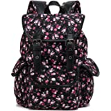 Kenox Canvas School College Backpack/bookbags for Girls/students/women