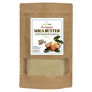 Shea Butter, 100% Natural & Unrefined, Moisturizer or Conditioner For Dry, Cracked Skin, Use on face, body, Hair & DIY Recipes 16 Ounce By natraco