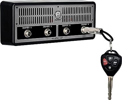 """Pluginz /""""The Ruckus/"""" Jack Rack Guitar Amp Key Holder w// 4 Guitar Plug Keychains"""