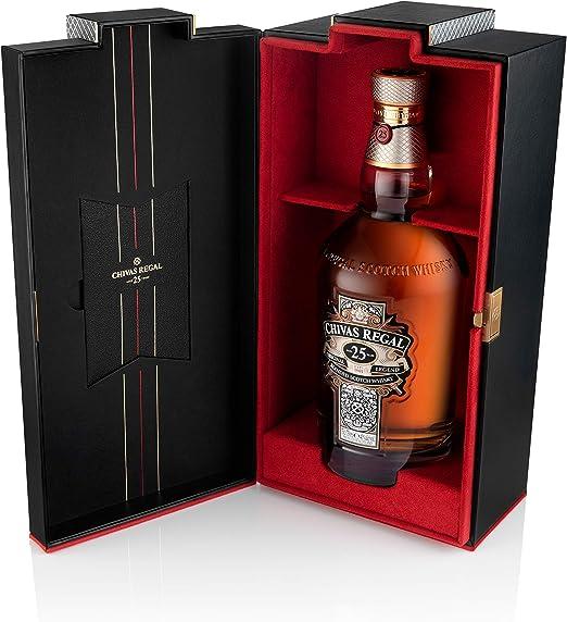 Chivas Regal 25 años Whisky Escocés de Mezcla Premium - 700 ml: Amazon.es: Alimentación y bebidas