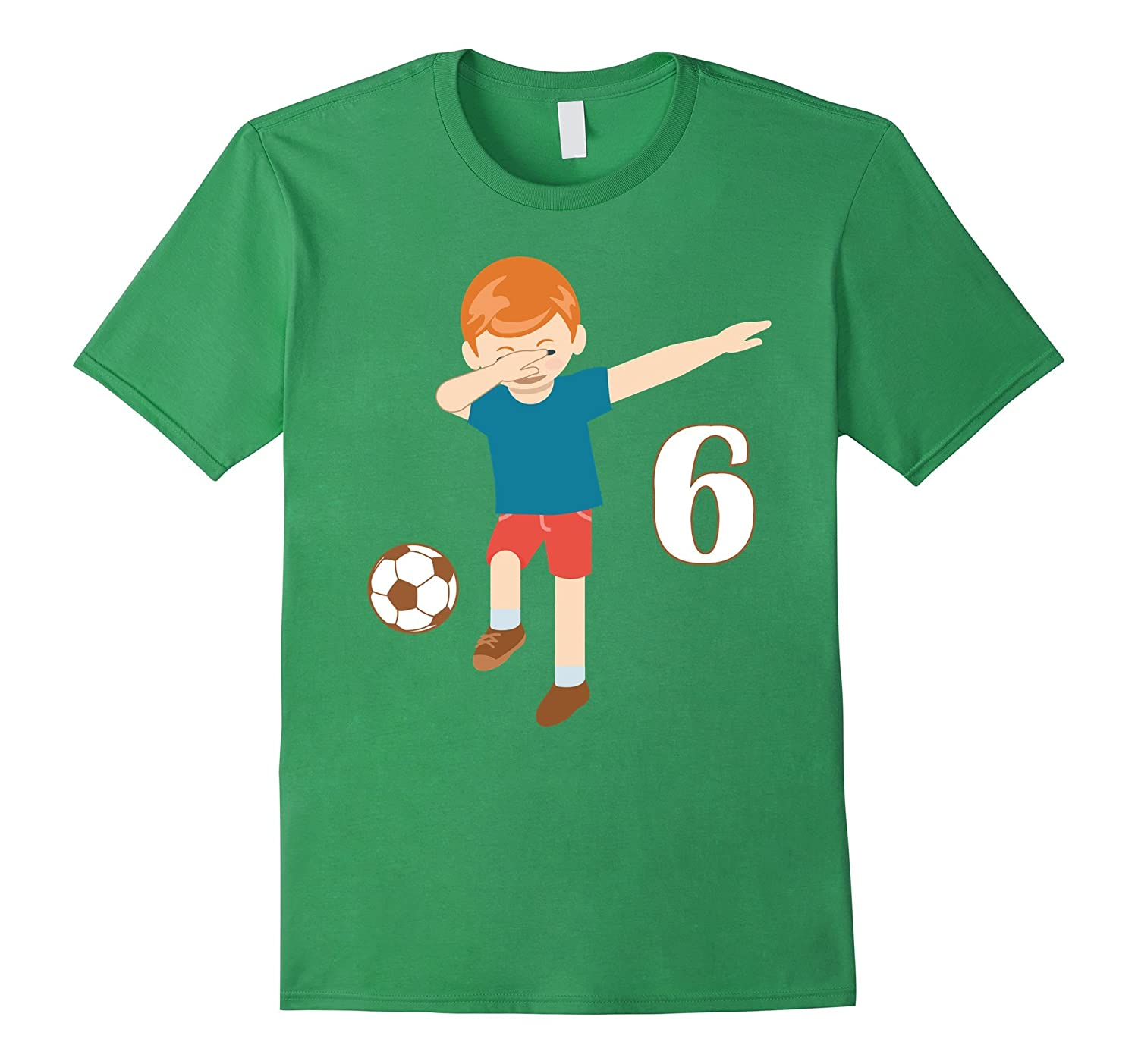 Dabbing Dance 6 Years Old Birthday Shirt Boys Soccer Players ANZ