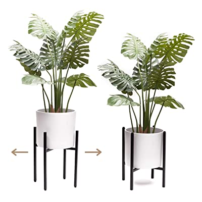 "VIVIHOME Plant Stand Indoor Adjustable Metal Plant Stand with Mid Century Modern Design for Large Plant Pots (10"" 11"" 12"" 13"" 14"" Wide) - Plant and Pot Not Included : Garden & Outdoor"