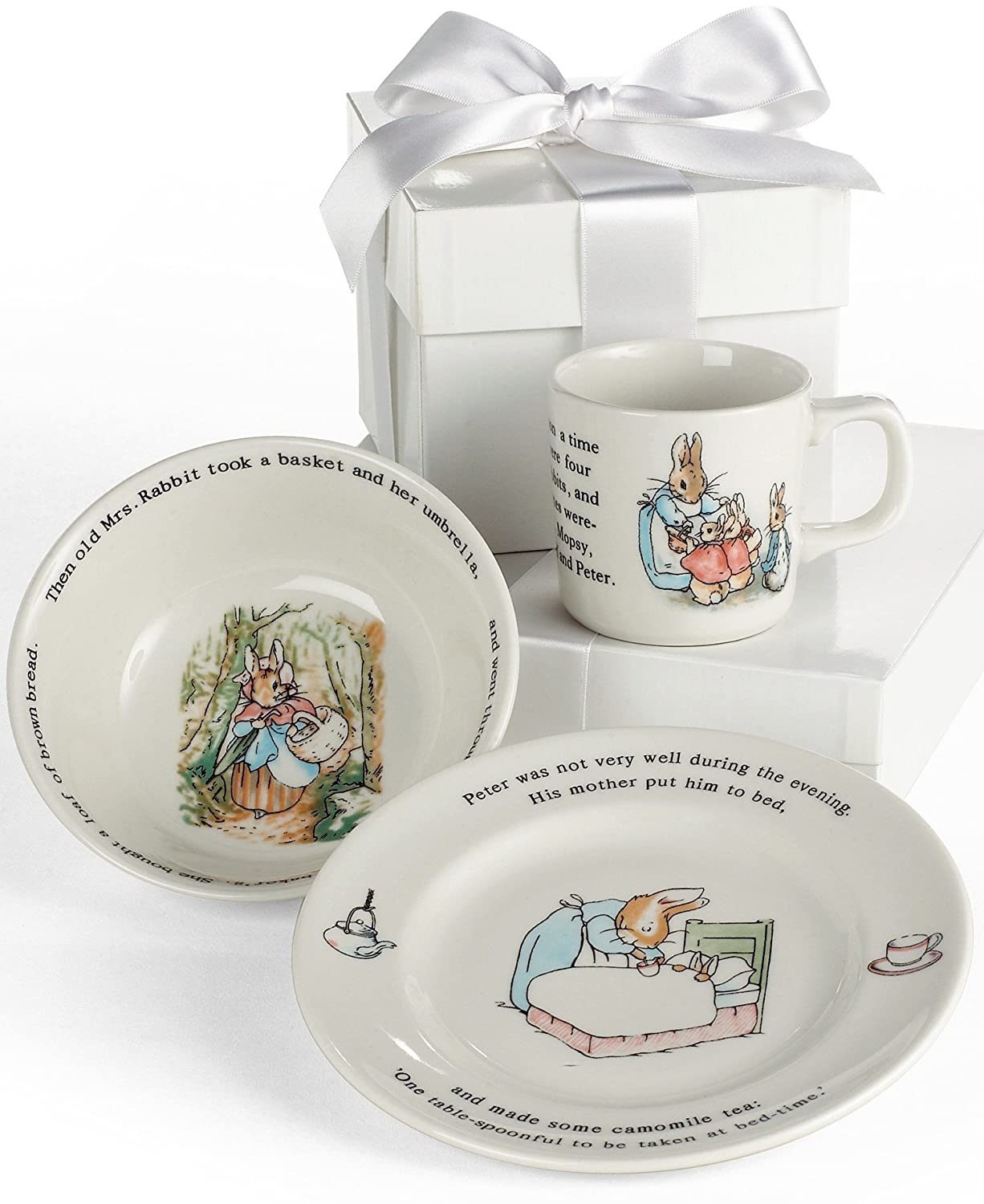 Amazon.com | Wedgwood Peter Rabbit 3-Piece Dinnerware Place Setting Service for 1 Dinnerware Sets  sc 1 st  Amazon.com & Amazon.com | Wedgwood Peter Rabbit 3-Piece Dinnerware Place Setting ...