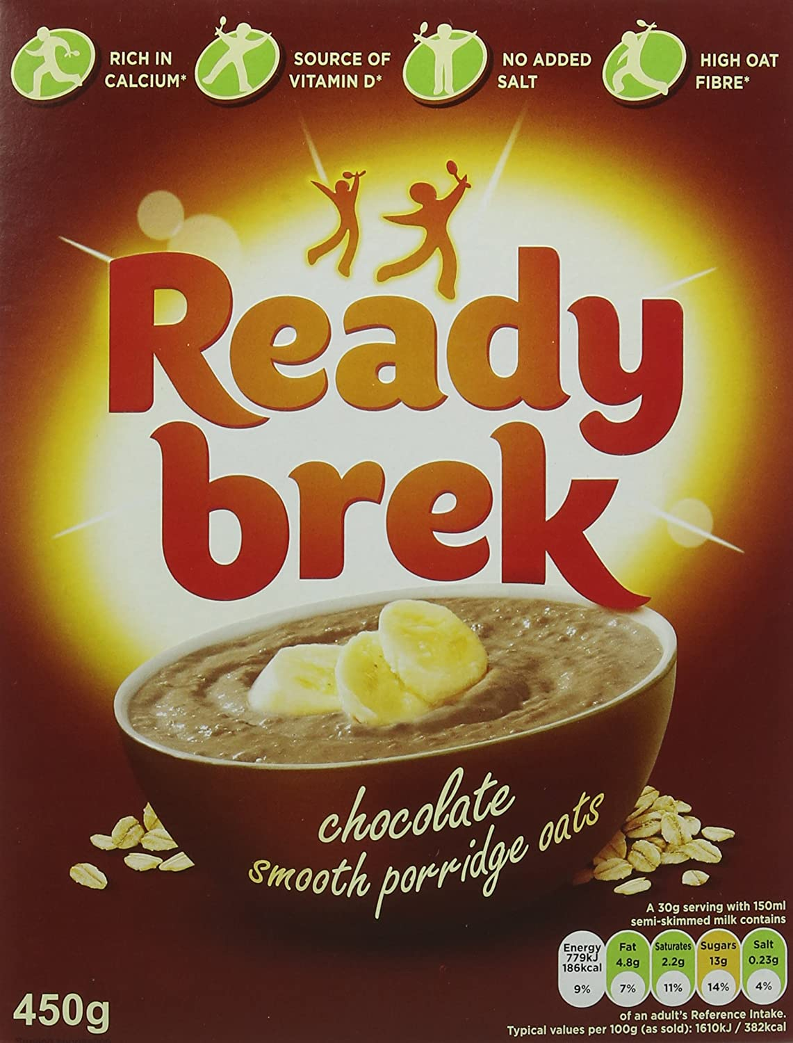 Weetabix Ready Brek Chocolate Super Smooth Oats 450 G Pack Of 6 Packaging May Vary
