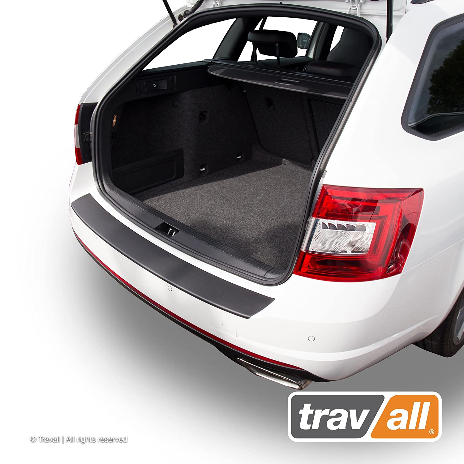 Travall Protector TBP1040P Smooth Vehicle-Specific Black Plastic Moulded Rear Bumper Protector