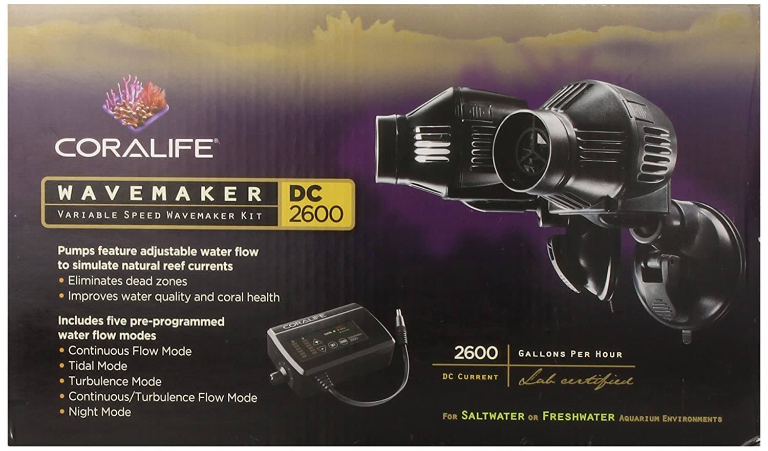 Coralife 06144 DC Wavemaker Pulse 2600, 2-Pack