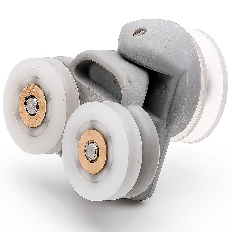 4 X Twin Spare Shower Door Rollersrunnerswheels 19mm Grooved Wheel