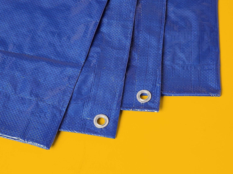 Commercial pack de 1/unidad 9/x/12/m azul 0,127/mm de espesor Lona impermeable de poli/éster multiusos