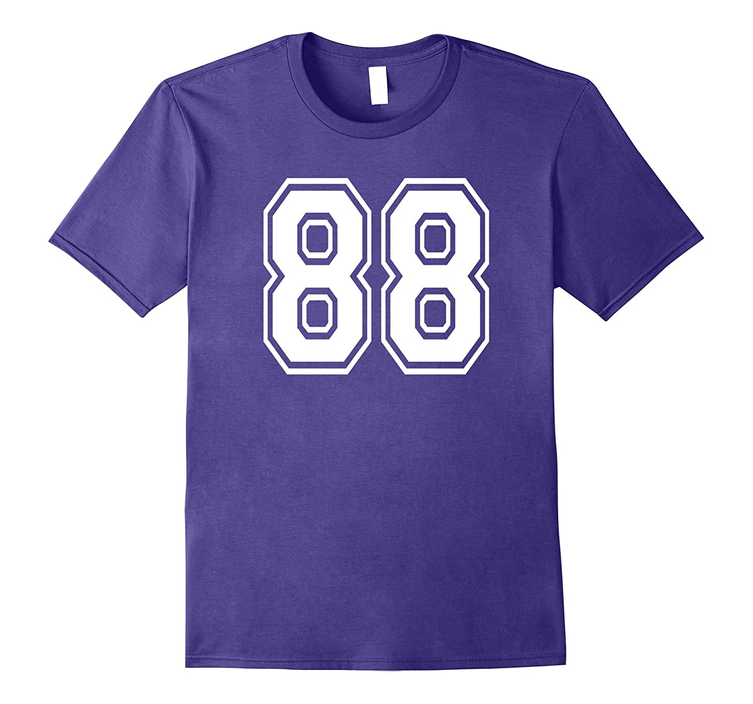 88 Sports Team School Numbers on Front T-Shirt Jersey-Vaci
