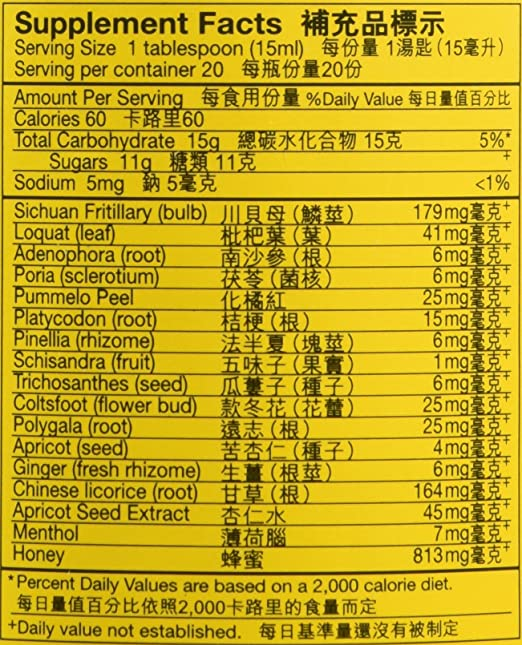 Amazon.com : Honey and Loquat Syrup/Nin Jiom Pei Pa Koa Dragon Herbs ...