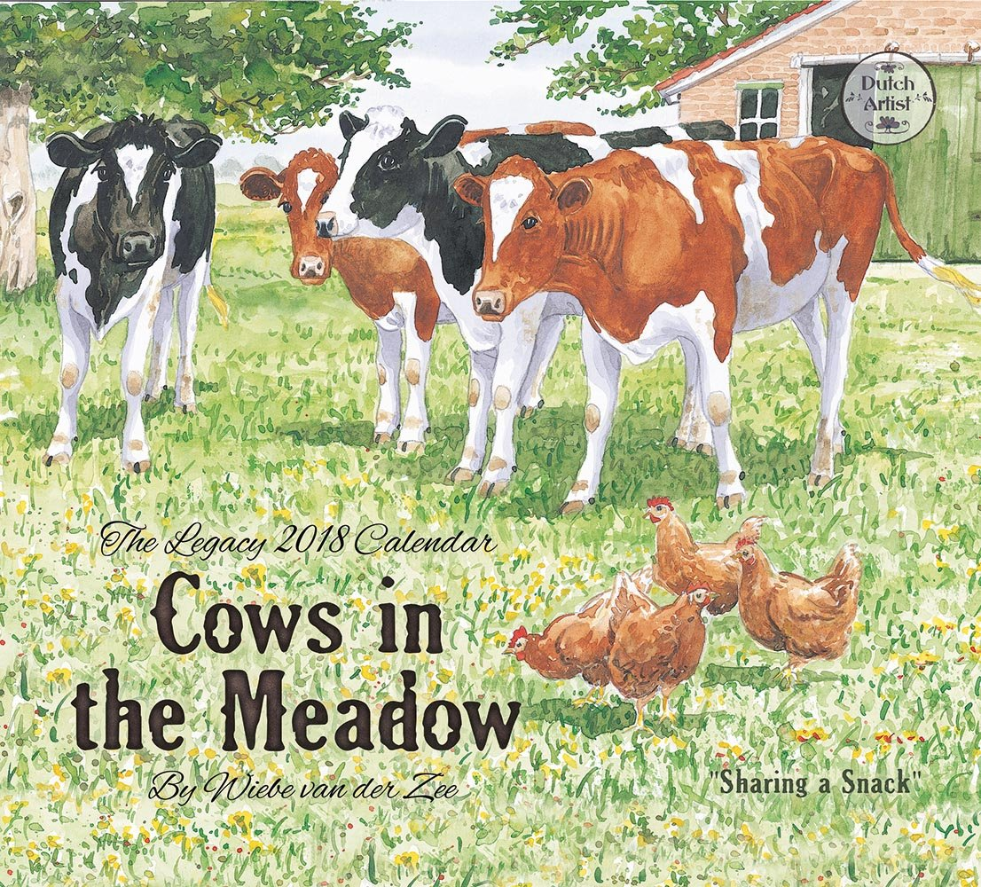 Read Online 2018 12-Month Wall Calendar, Cows in the Meadow pdf