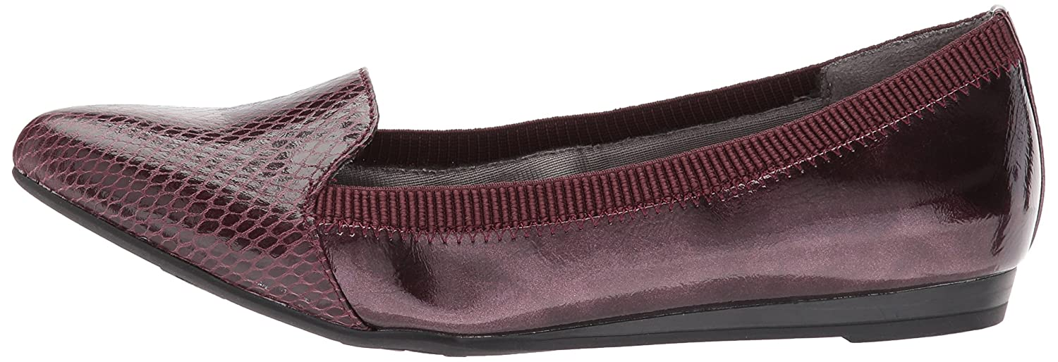 LifeStride Women's Quickstep Pointed Toe Flat B071WTZKHQ 8 W US|Dark Red