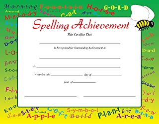 product image for Spelling Achievement Recognition Certificates