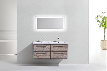 Pure Design Led 48 Inch X 19 6 Inch Bathroom Mirror Vanity Wall