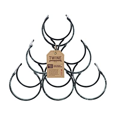 Twine 2317 Country Home: Wine Shrine Bottle Holder, One Size, Black