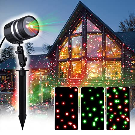 Coowoo christmas lights outdoor aluminum alloy christmas projector coowoo christmas lights outdoor aluminum alloy christmas projector light with automatic timer red green mozeypictures Images
