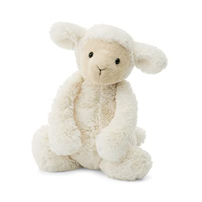 Jellycat Bashful Lamb Stuffed Animal, Medium, 12 inches: Toys & Games