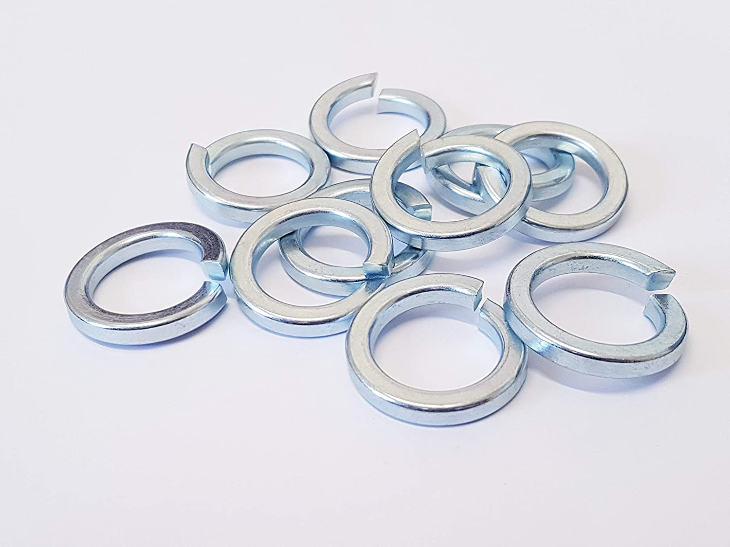 M20 Square Section Spring (Split)(Lock) Washer ZINC Plated (Pack of 20) GENERIC