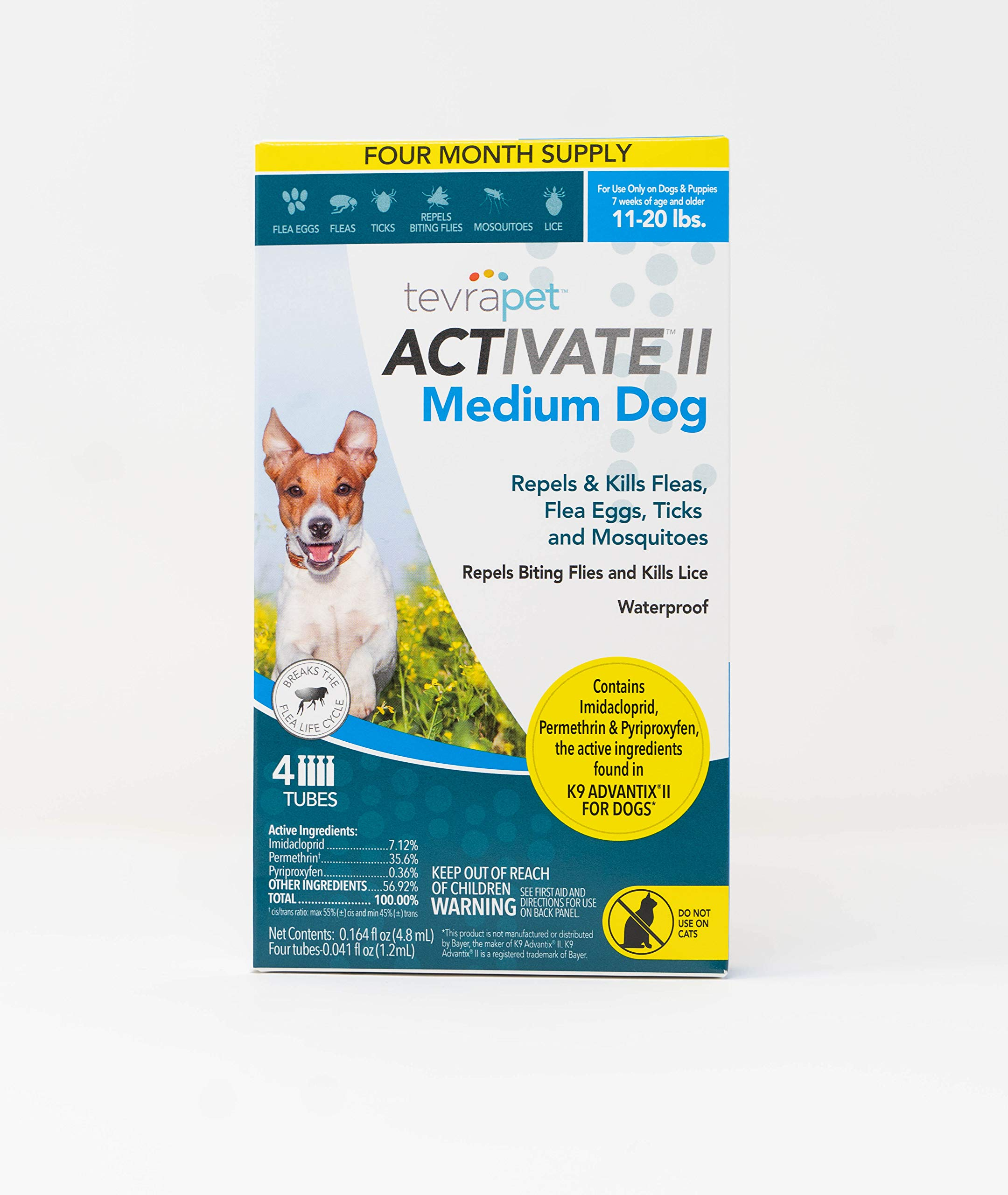 TevraPet Activate II Flea & Tick Prevention for Dogs – Topical, 11-20 lbs