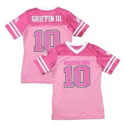 best sneakers f9603 f2fc0 OuterStuff Robert Griffin III Washington Redskins #10 Pink ...