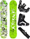 AIRTRACKS SNOWBOARD SET - WIDE BOARD DREAMCATCHER - SOFTBINDING SAVAGE - SOFTBOOTS - SB BAG