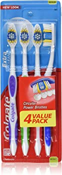3-Pack of 4 Count Colgate Extra Clean Full Head Toothbrush