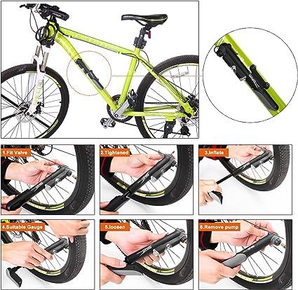 Bombín de bicicleta prémium con manguera, de Giwil; Conjunto ...