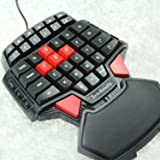 ZeleSouris FPS Gaming Keyboard QWERTY Backlight Keyboard with Special for One Hand CS FPS/BF3 and Crysisetc 0.8 kg