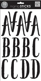 Sticko Regular X Large Black Glitter Futura Alphabet Sticker