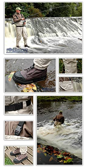 Sport en vakantie Kleding en schoeisel BISON BREATHABLE STOCKING FOOT WAIST WADERS M,L XL,XXL FREE NEXT DAY UK DELIVERY