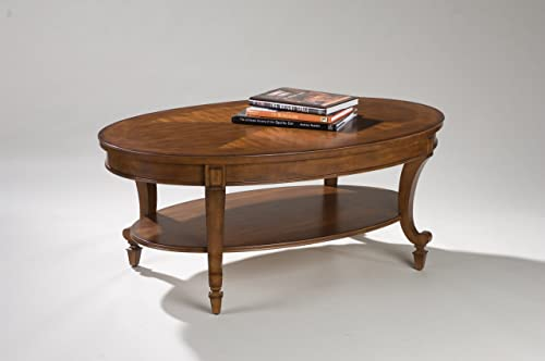 Magnussen Aidan Wood Oval Cocktail Table - the best living room table for the money