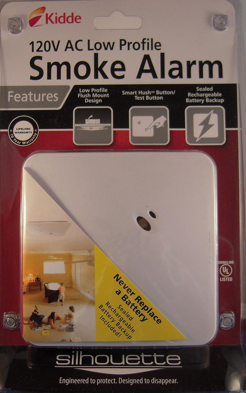 Kidde Kn Smfm I Silhouette Hardwire Low Profile Smoke Alarm Ionization Detector Ic Detectors