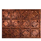 "Fasade Easy Installation Traditional 4 Moonstone Copper Backsplash Panel for Kitchen and Bathrooms (18"" x 24"" Panel)"