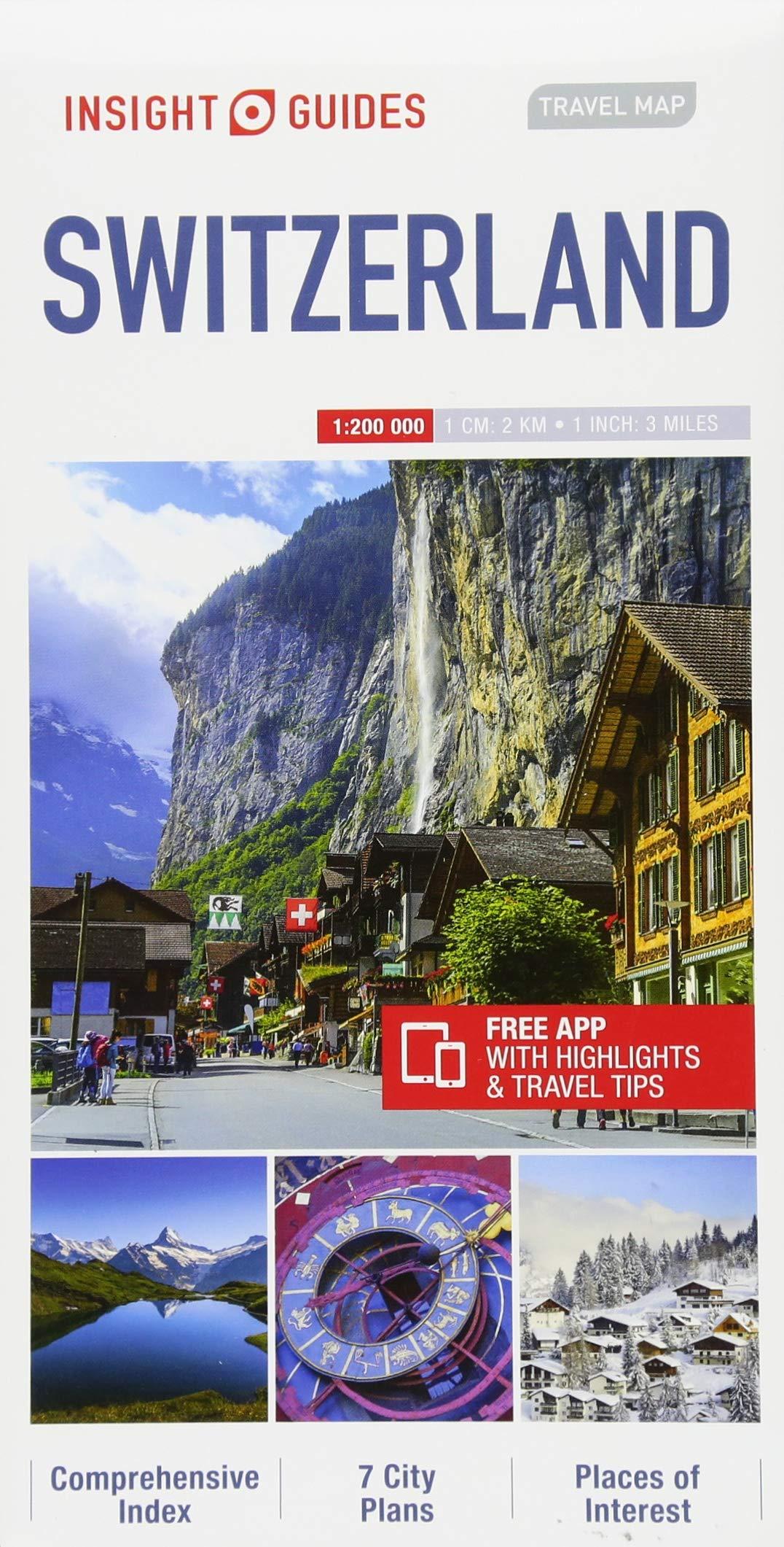 Insight Guides Travel Map Switzerland (Insight Travel Maps