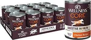 Wellness Natural Pet Food CORE Digestive Health Chicken Grain Free Wet Dog Food, 13-Ounce, Pack of 12 (8700)