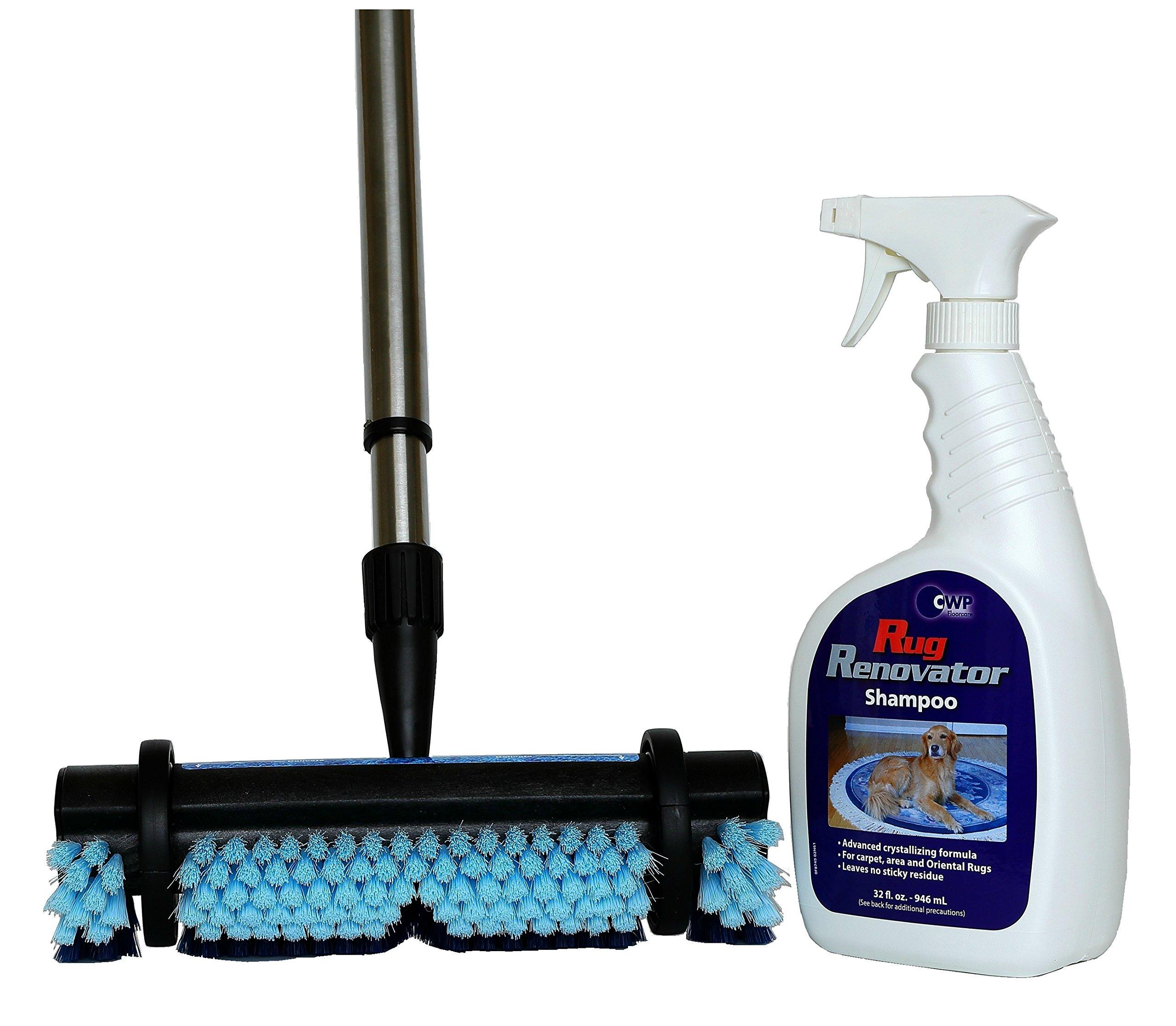Rug Renovator Carpet Cleaning Kit ~ Brush & 32 oz Carpet Shampoo