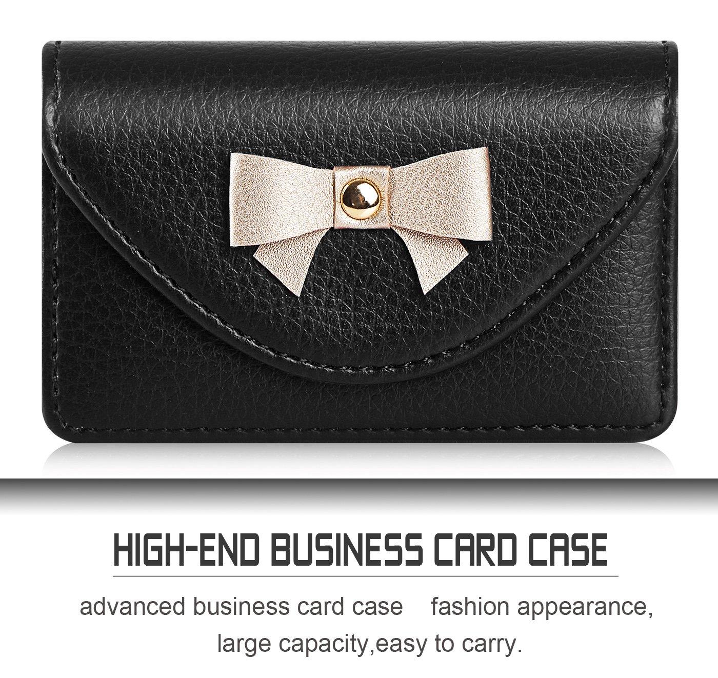 Amazon.com: FYY Handmade Premium Leather Business Name Card Case ...
