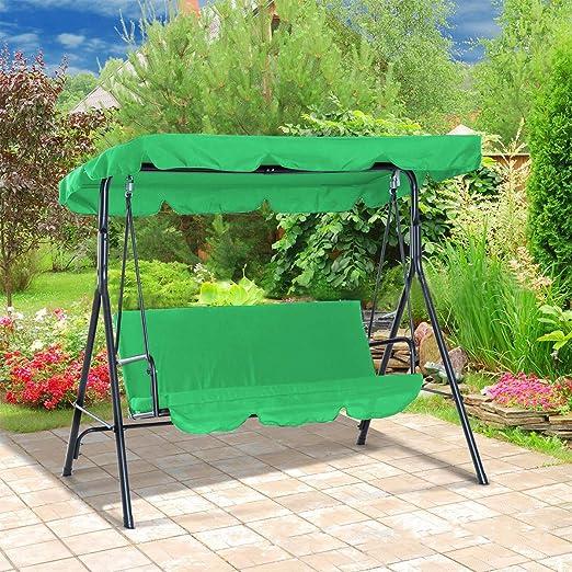 OhhGo Juego de coberturas para columpio de patio, cubierta superior de asiento + cubierta para columpio para jardín patio, verde: Amazon.es: Hogar
