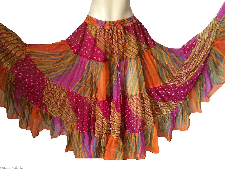 Dancers World Ltd (UK Seller) Gasa de 25 Yardas Gitana Falda ...