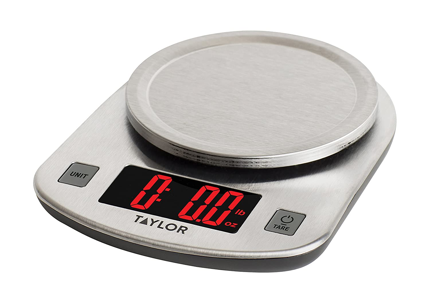 Amazon.com: Taylor Digital Stainless Steel LED Kitchen Scale ...