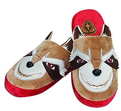 b9ab9569d397 Groovy Official Guardians Of The Galaxy Rocket Raccoon Mule Slipper Adult  Large UK 8-10  Amazon.co.uk  Clothing