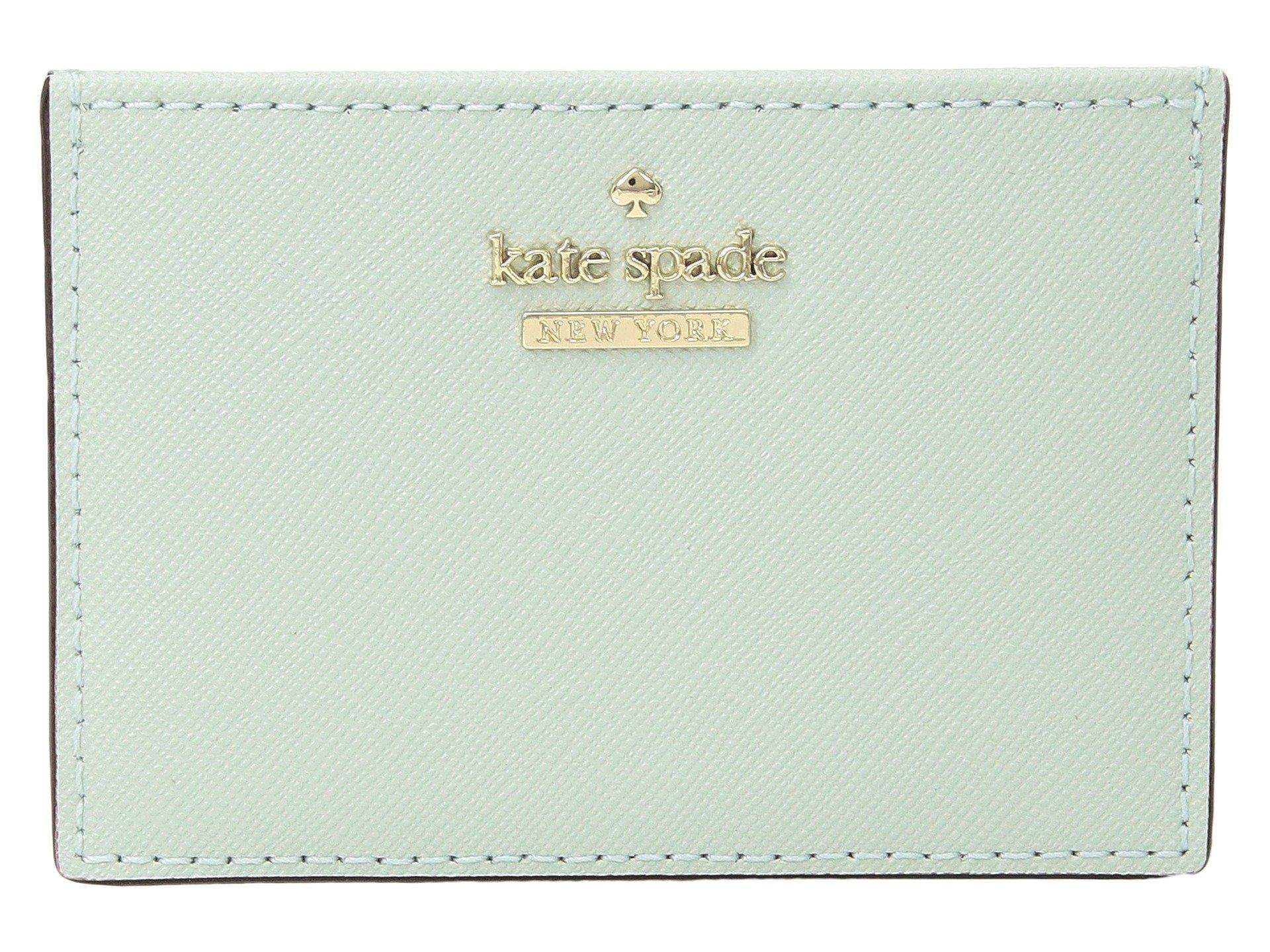 Kate Spade New York Women's Cameron Street Card Holder, Misty Mint, One Size