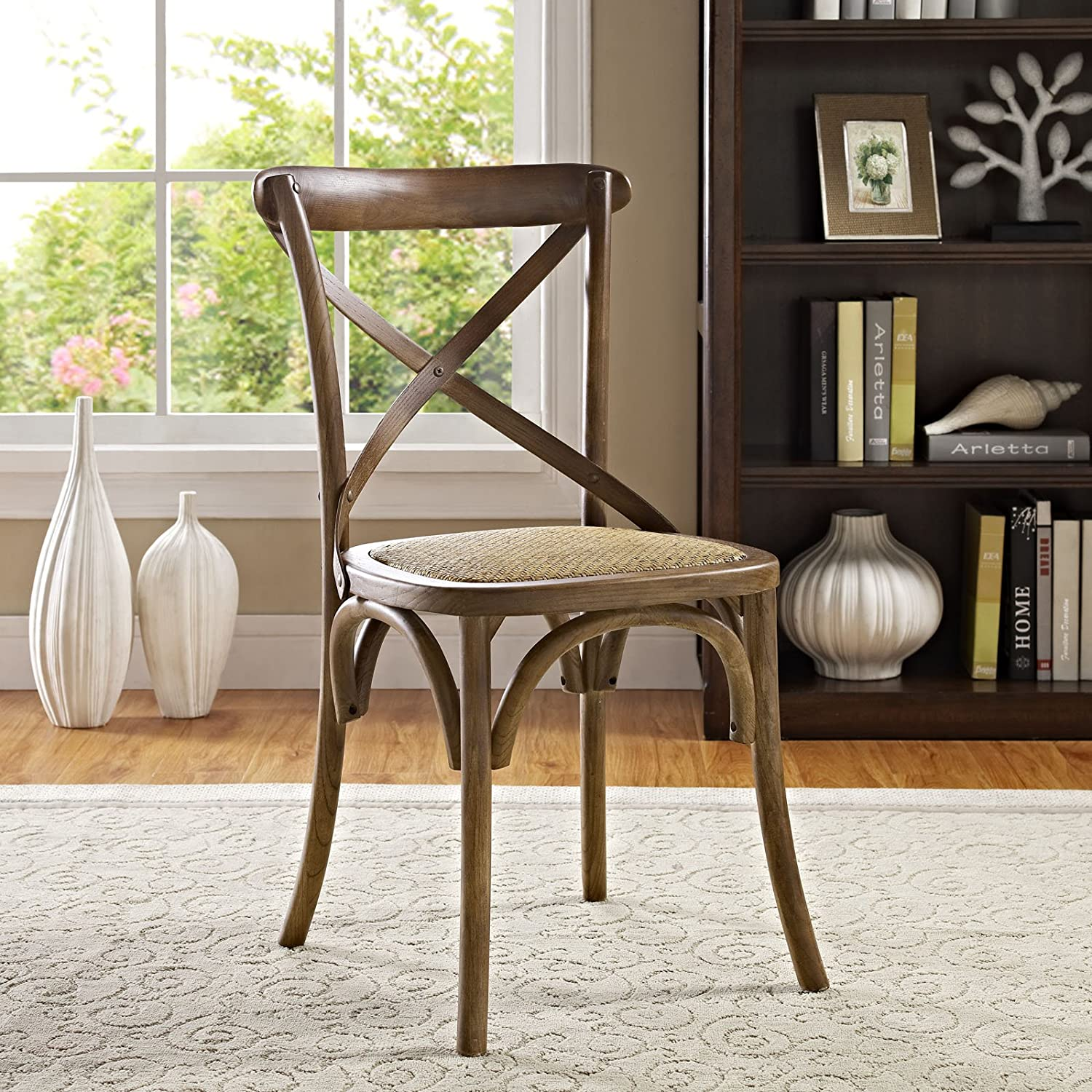 Amazon Modway Gear Dining Side Chair Walnut Chairs