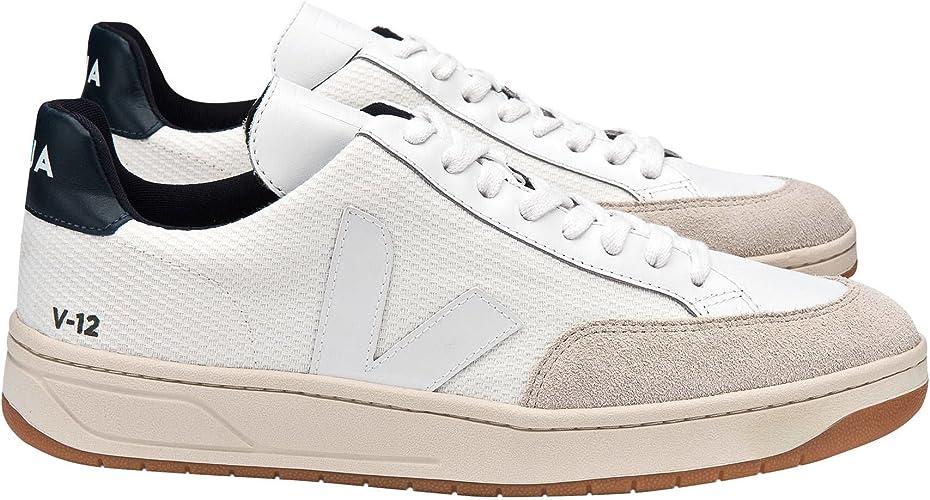 máscara Separar mil millones  Veja Zapatillas V12 Bmesh, Hombre, Color White White Nautico Natural  Outsole, Talla 46: Amazon.es: Zapatos y complementos