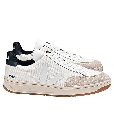 Veja Zapatillas V12 Bmesh, Hombre, Color White White Nautico Natural Outsole, Talla 46: Amazon.es: Zapatos y complementos