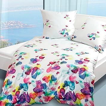 Bettwäsche Modern modern mako satin bettwäsche 4136 09 multicolor 135x200