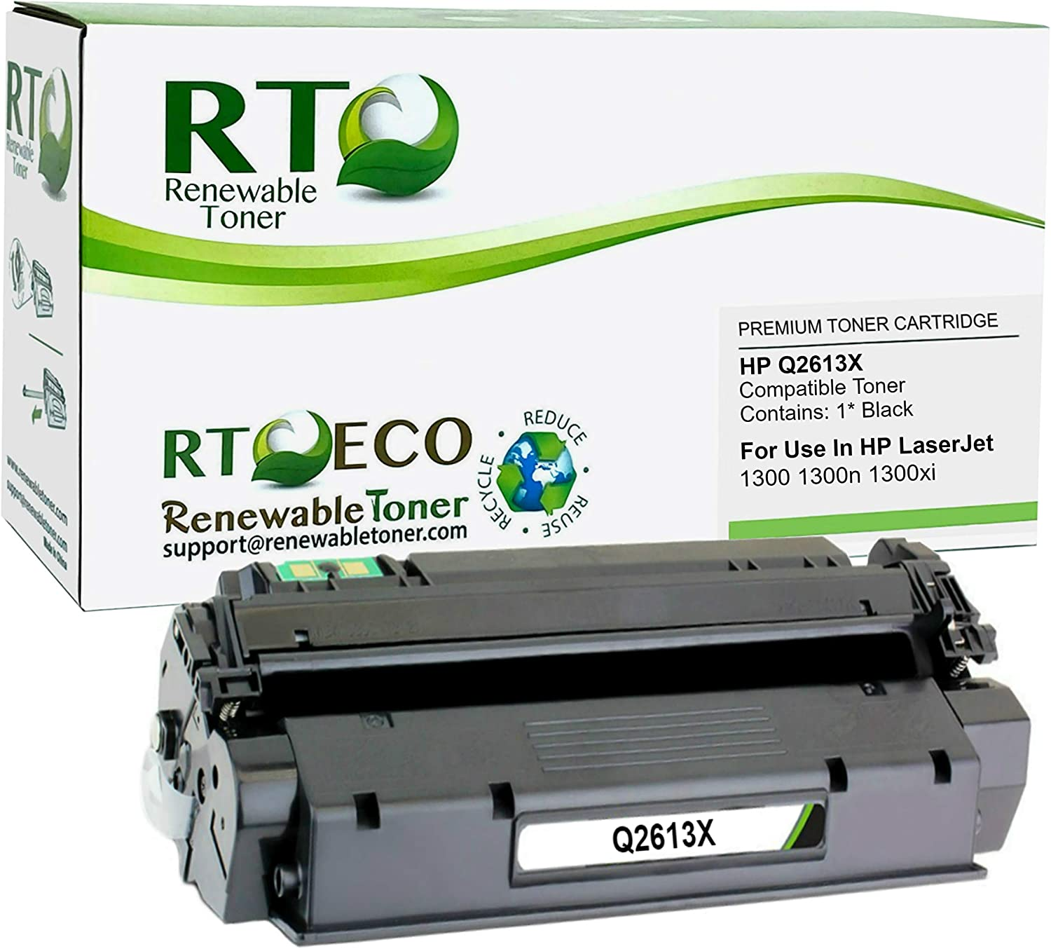 Renewable Toner Compatible Toner Cartridge High Yield Replacement for HP 13X Q2613X for Laserjet 1300