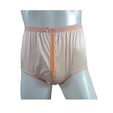 81cd15126 NYH03P04 Orange Handmade Vintage Style Brief Panties Nylon for Women Panty  Underwear high Waist Undies (