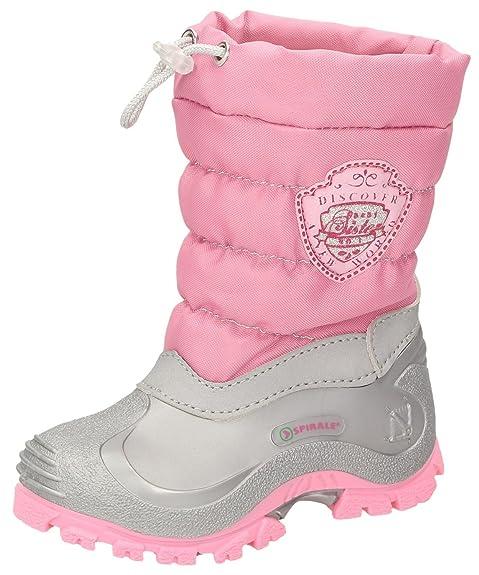 62074d72c1a0bb Bambino doposci 24 25 26 rosa spirale rivestimento caldo stivali ragazze:  Amazon.it: Scarpe e borse